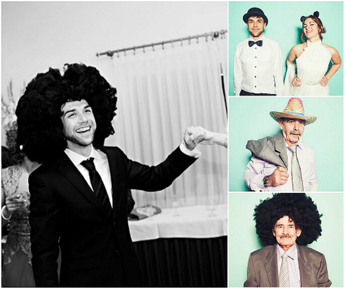 Un invitado muy especial lleva peluca tipo Maradona. FOTO: Fran Cabades.