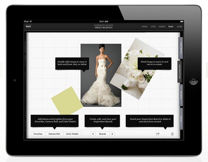 Die Anwendung zeigt exclusive Bilder der Vera Wang- Kollektion- Foto: Vera Wang