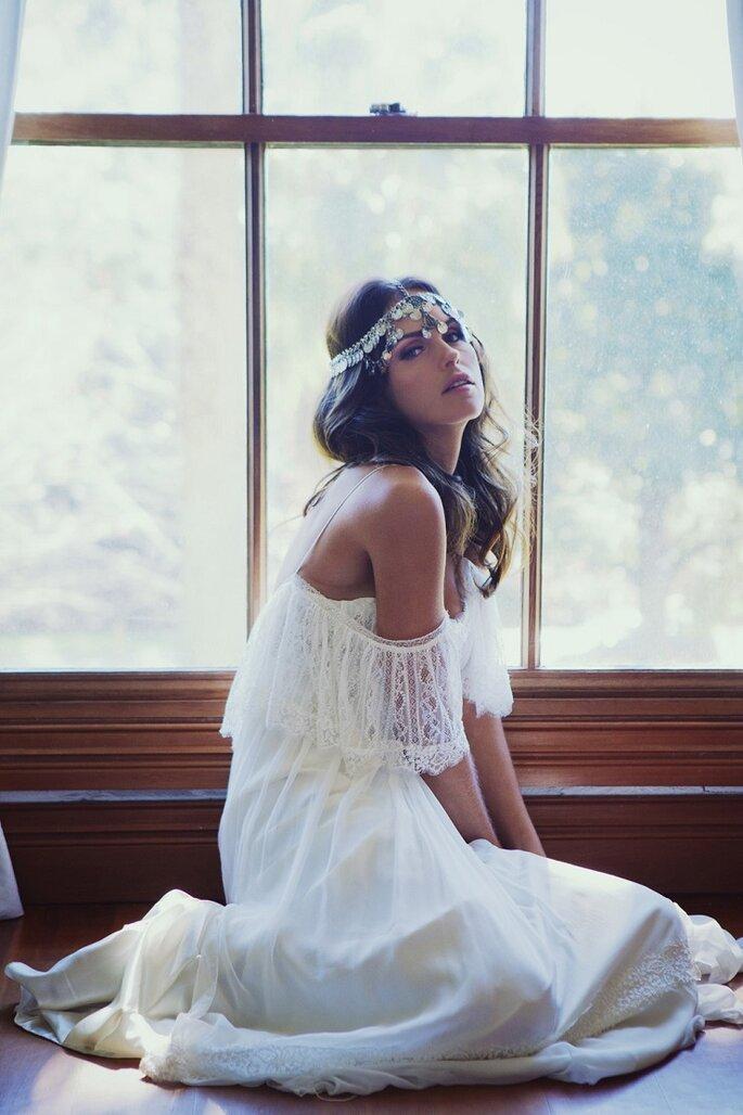 Свадебное платье в стиле хиппи