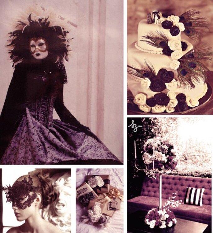 Collage de boda decoración Dramatique. Foto de Onabicyclebuiltfortwo y SZeventos.com