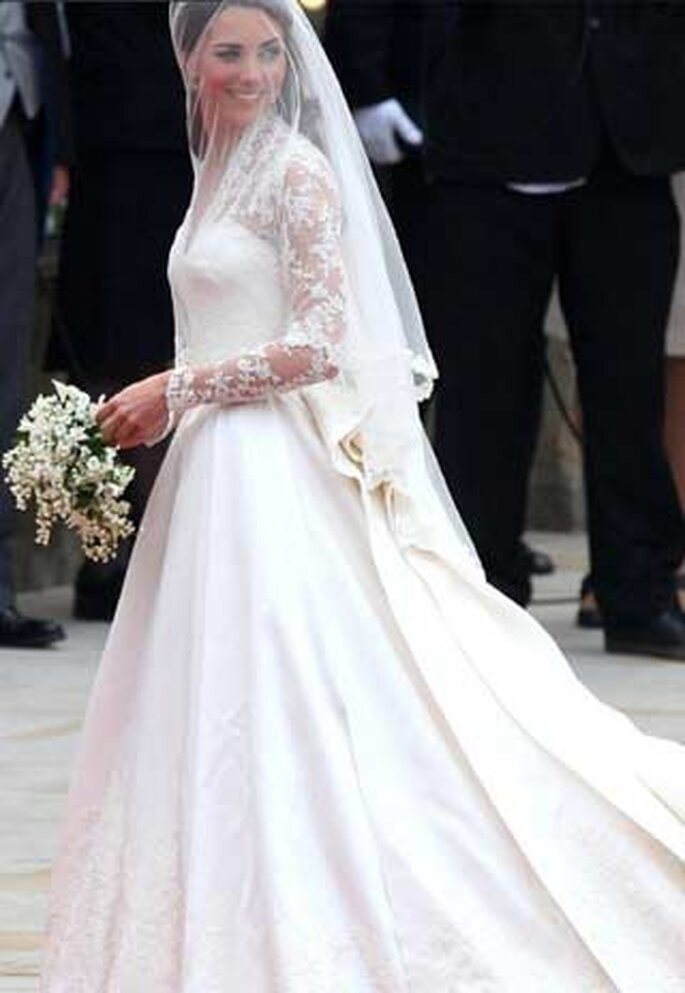 Vestido de novia de Catalina Middleton. Foto Terra.com.mx