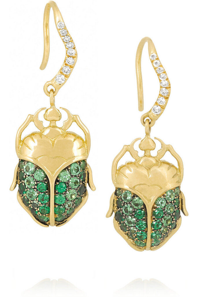 Accesorios para invitada de boda en color verde - Aurélie Bidermann Fine Jewelry en Net a Porter