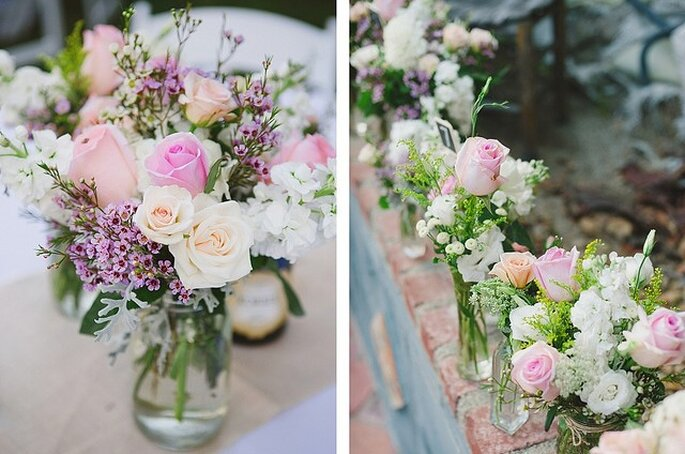 Flores en colores pasteles. Foto: Closer to Love Photographs
