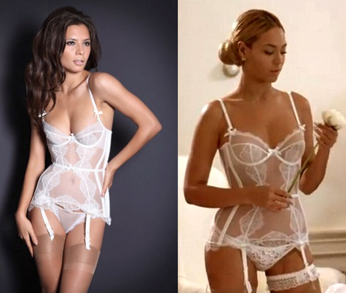 Beyoncé con lencería sexy de novia - Foto: Agent Provocateur y video oficial de Beyoncé