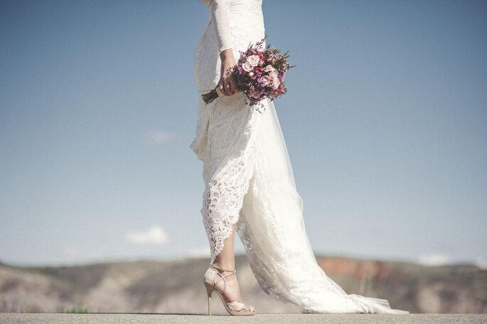 Foto: Volvoreta bodas/Vestido: Sole Alonso.