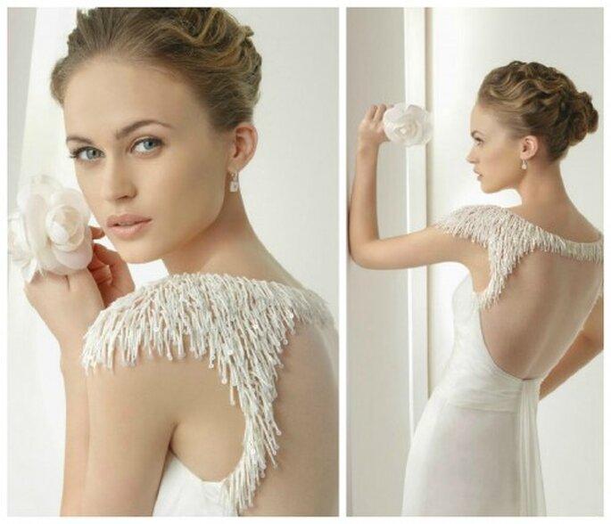 Schlichte Eleganz mit verspielten Details findet man im spanischen Brautmodenhaus Rosa Clara – Foto: rosa clara