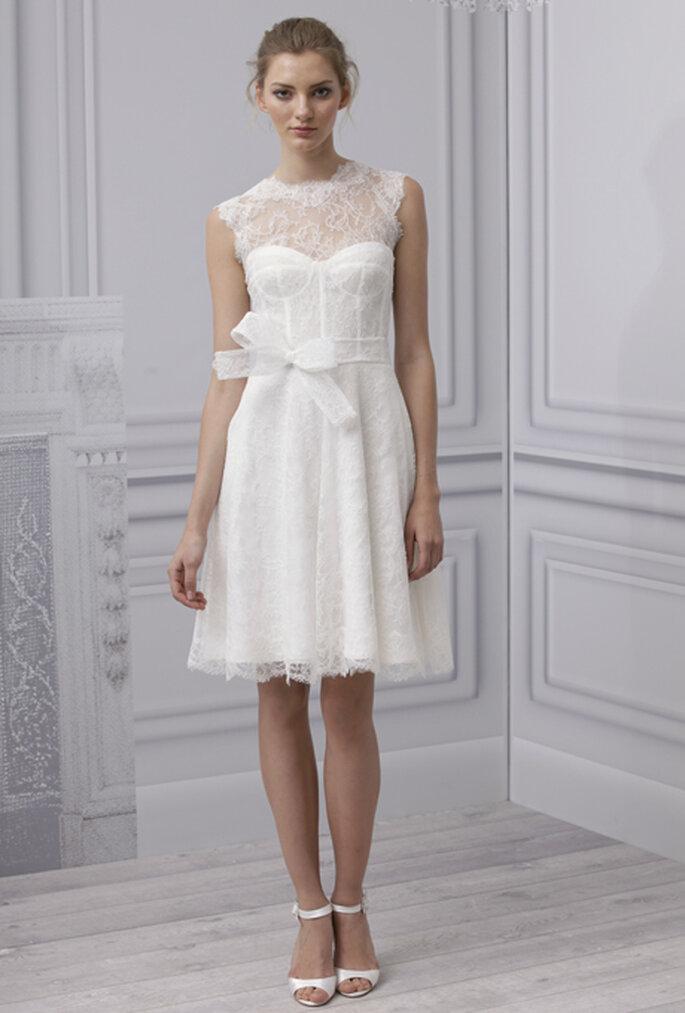 Vestido de novia corto 2013