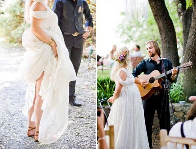 Decoración de boda inspirada en el estilo bohemio - Foto Nancy Neil en Snippetandik