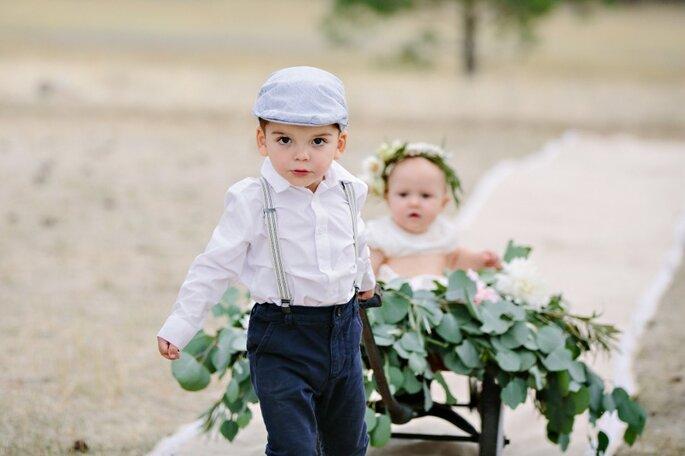 5 consejos de estilo para los pajecitos en el día de la boda. Foto- Green Door Photography