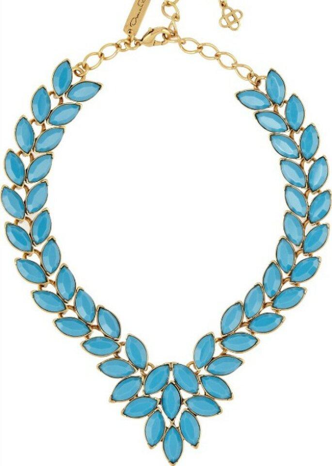 Collar azul turquesa, de Oscar de la Renta.