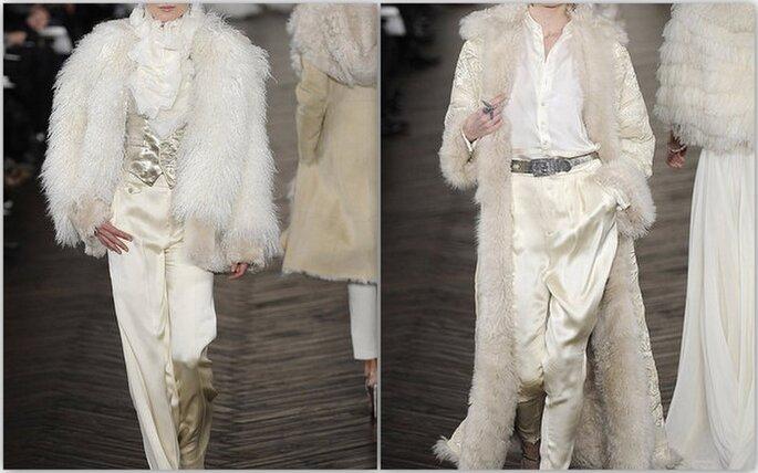 Coppia di abiti con pantaloni
