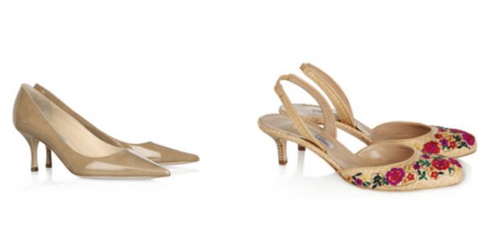 Zapatos con kitten heel para invitadas de boda - Foto Net a Porter