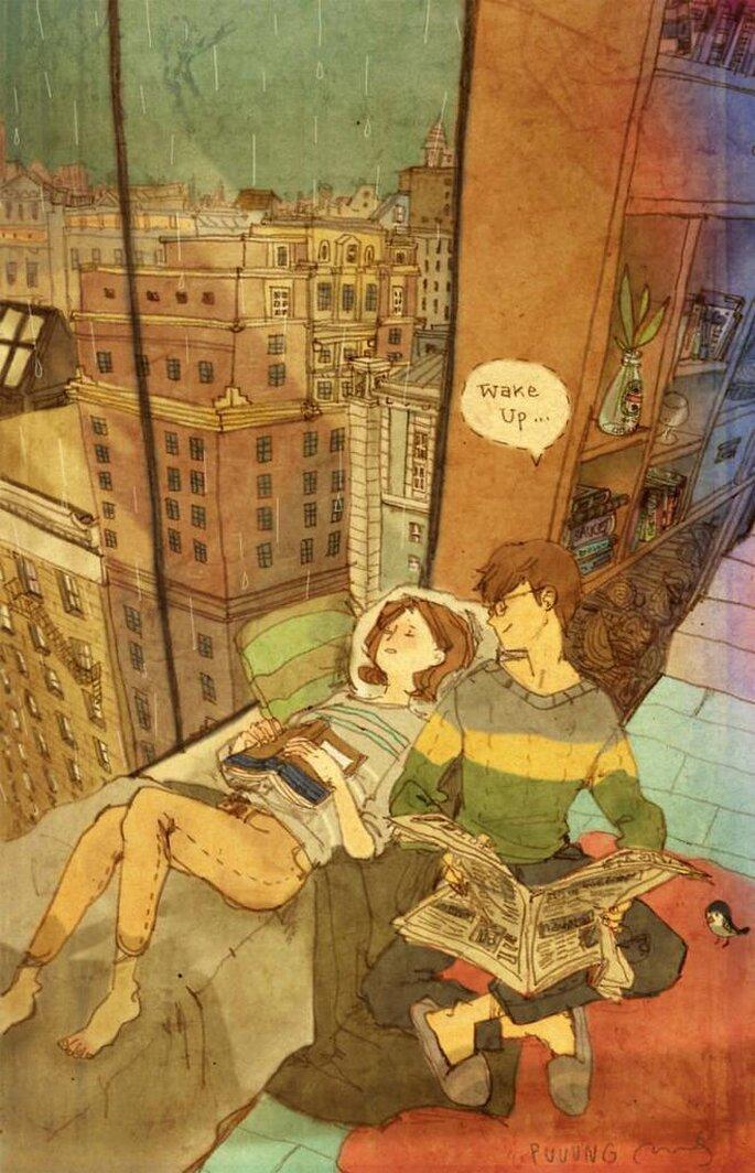 Liefde is het denken aan een ander