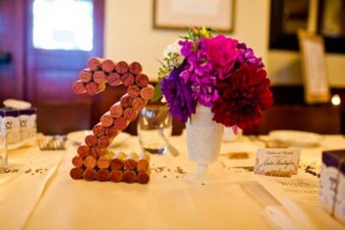numer stołu z korków po winie