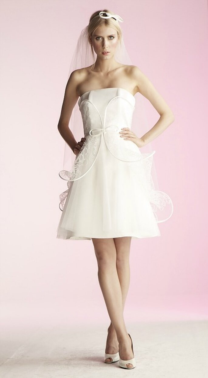 Robe de mariée courte Suzanne Ermann, modèle Intense - Photo : Suzanne Ermann