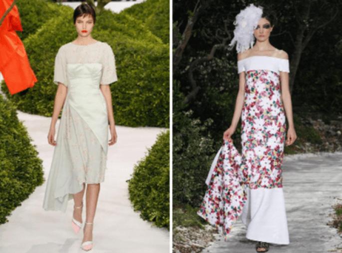 Vestidos con detalles de flores estampadas en tendencia para vestidos de fiesta - Foto Dior