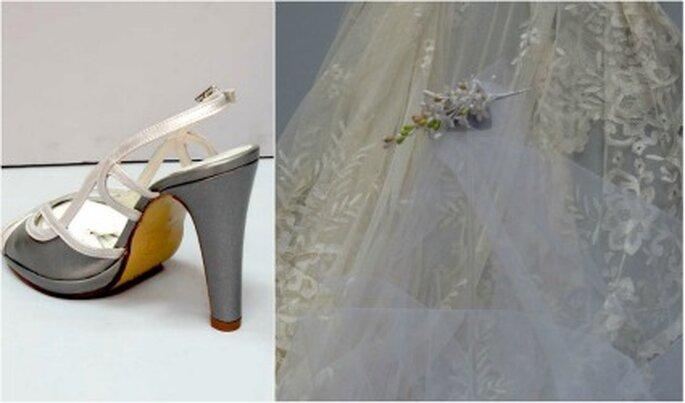 También puedes encontrar zapatos de novia a medida y velos - Charo Agruña