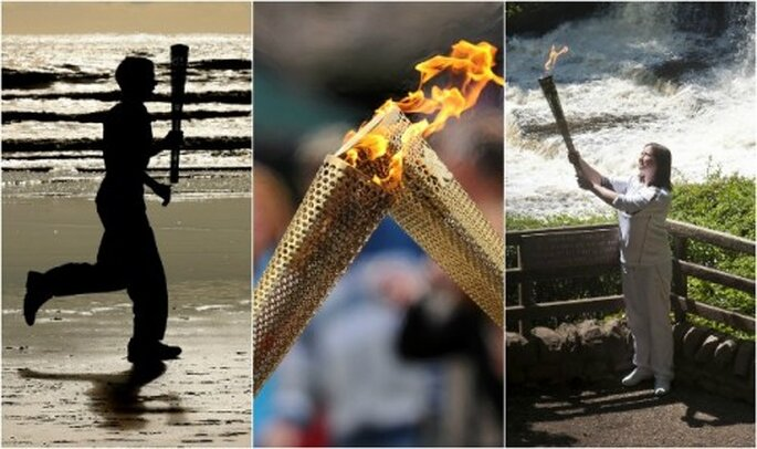 Il bacio della fiamma olimpica. Foto: London 2012