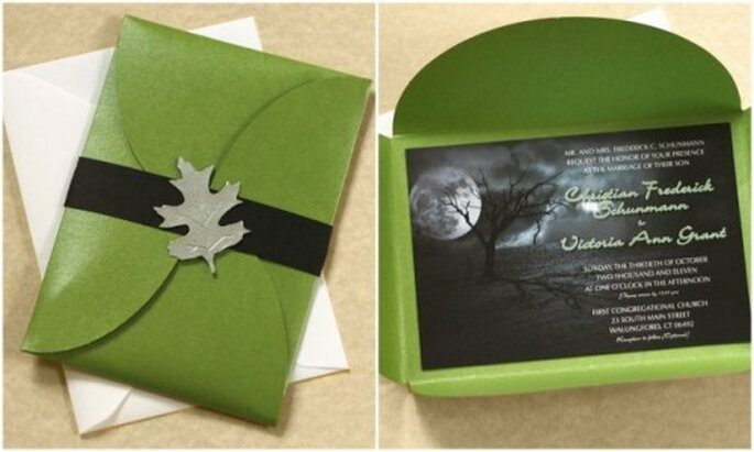"""Invitaciones de boda """"Full Moon"""". Fotos: www.etsy.com"""