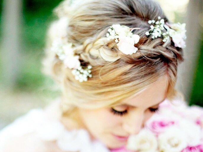 Las trenzas, el peinado must para una novia chic - Foto Lindsey Shaun