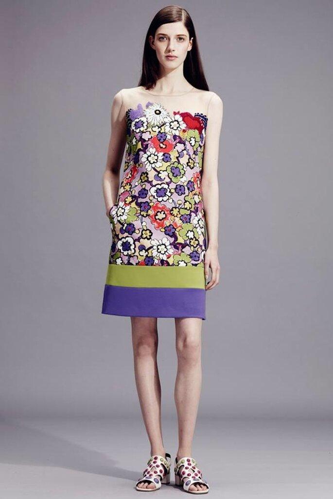 Vestidos de fiesta con inspiración multicolor para 2015 - Foto Alberta Ferretti