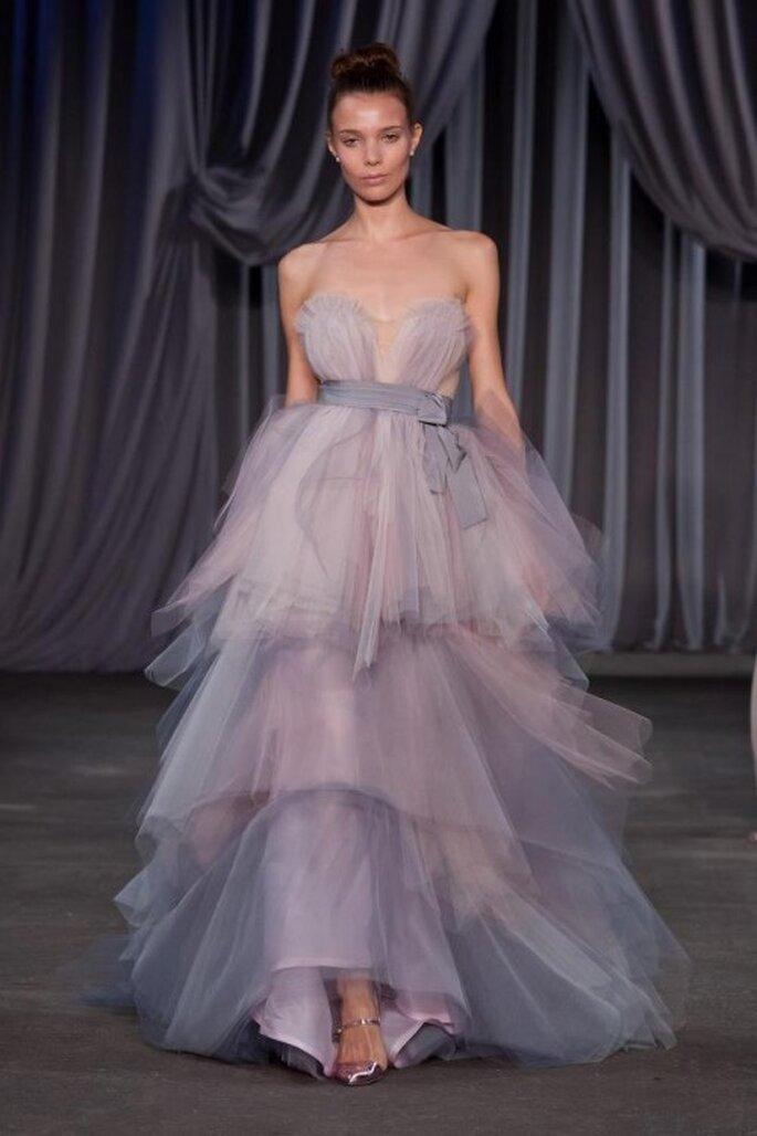 Vestido de fiesta 2013 largo en colores lilas y tul - Foto Christian Siriano