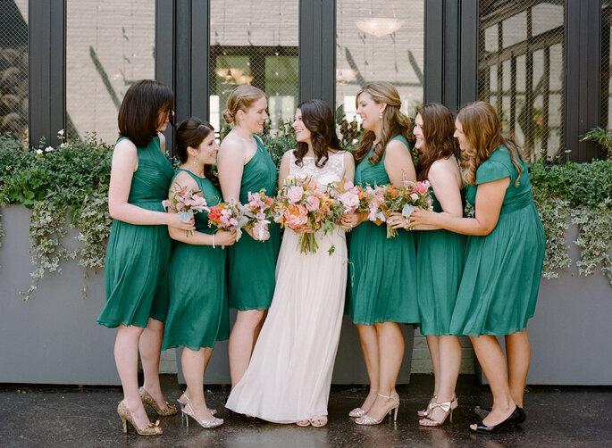 Damas de honor para la boda. Foto- Rebecca Yale Portraits