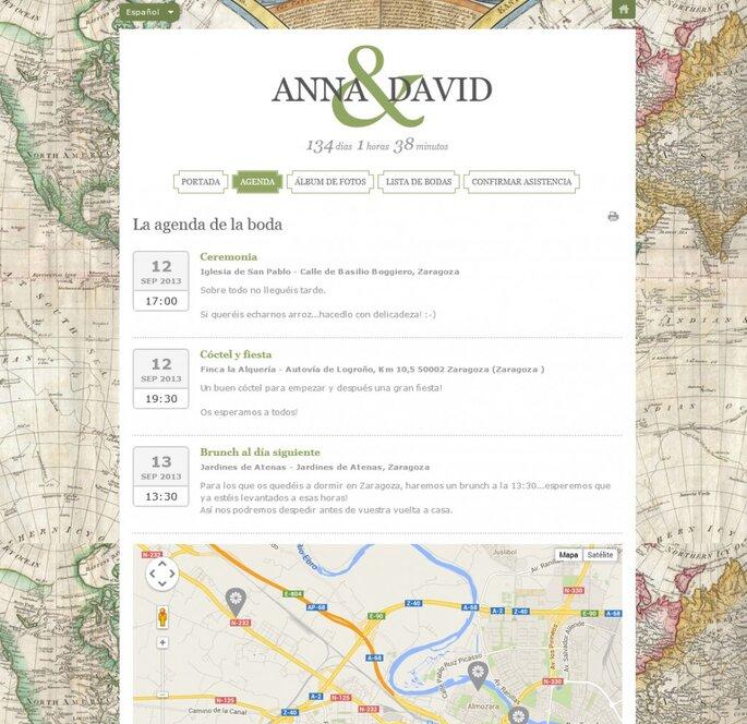 Agenda en tu web de bodas con Zankyou