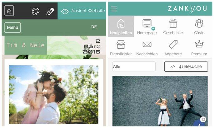 Zankyou App nutzen