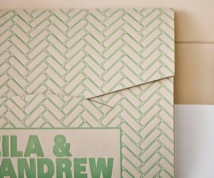 Invitación de boda ecológica de moda en 2013 - Foto Bella Figura