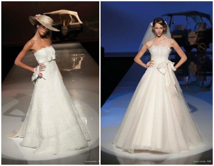 Due proposte firmate Nicole Spose Collezione 2013. Foto www.nicolespose.it