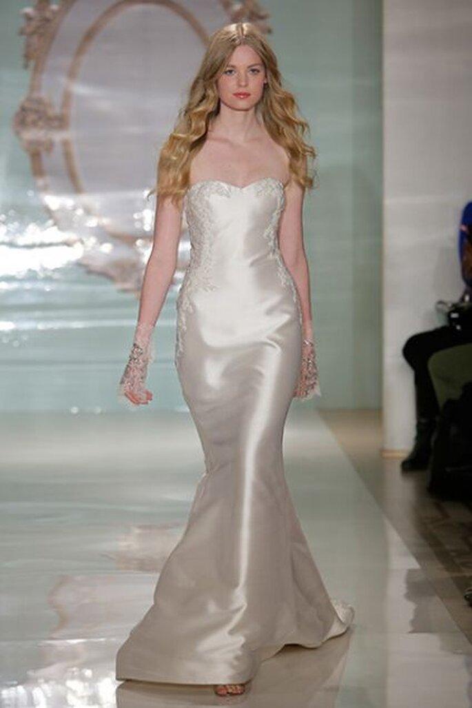 Vestido de novia Reem Acra - Primavera 2015. Foto: Getty