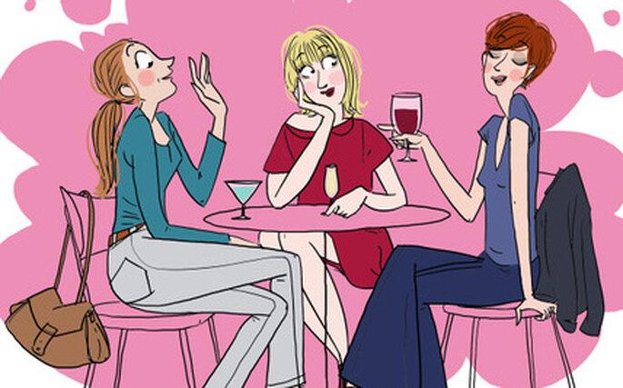 De copas con las amigas, por Margaux Motin