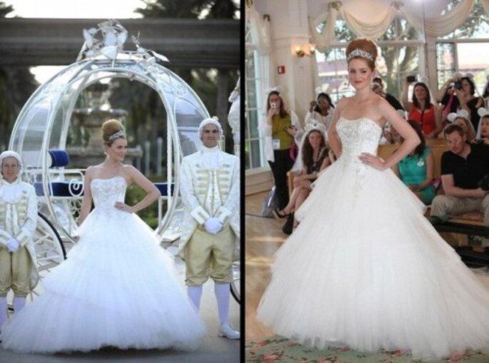 Vestido de novia inspirado en Cenicienta - Foto Alfred Angelo Facebook