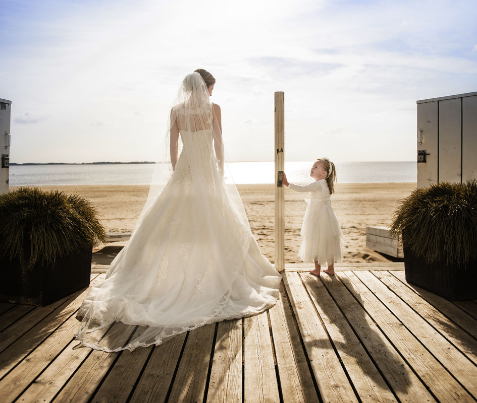 Bruidsfotografie strand