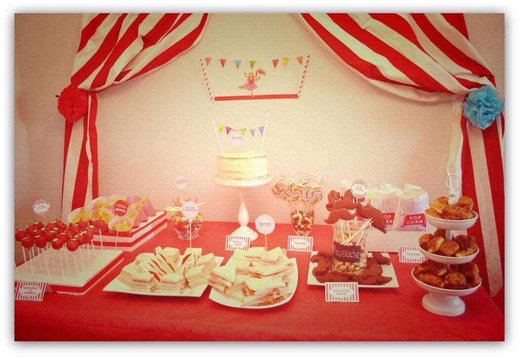 Mesas de dulces Vintage Circus Party