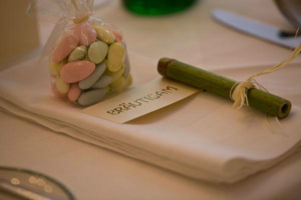Beispiel: Tischdekoration, Foto: Hochzeitsorganisation Barbara Donabauer.