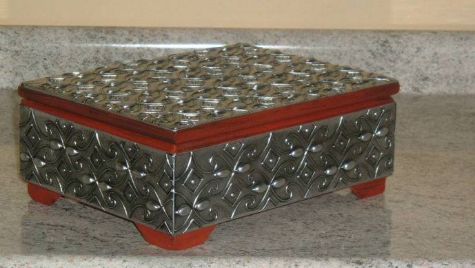 Caja de té 6 divisiones aluminio