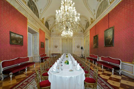 Beispiel: Hochzeitstafel, Foto: Palais Pallavicini.