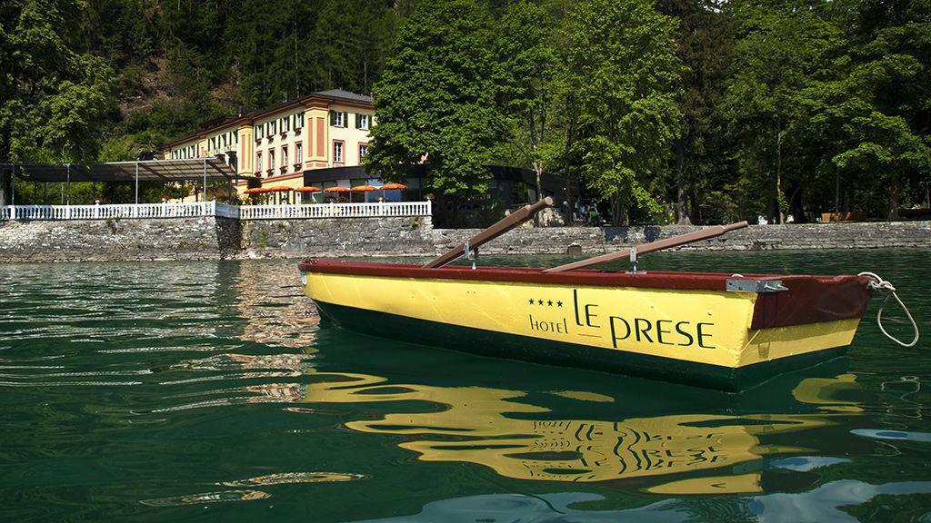 Beispiel: Seeterrasse, Foto: Hotel Le Prese.