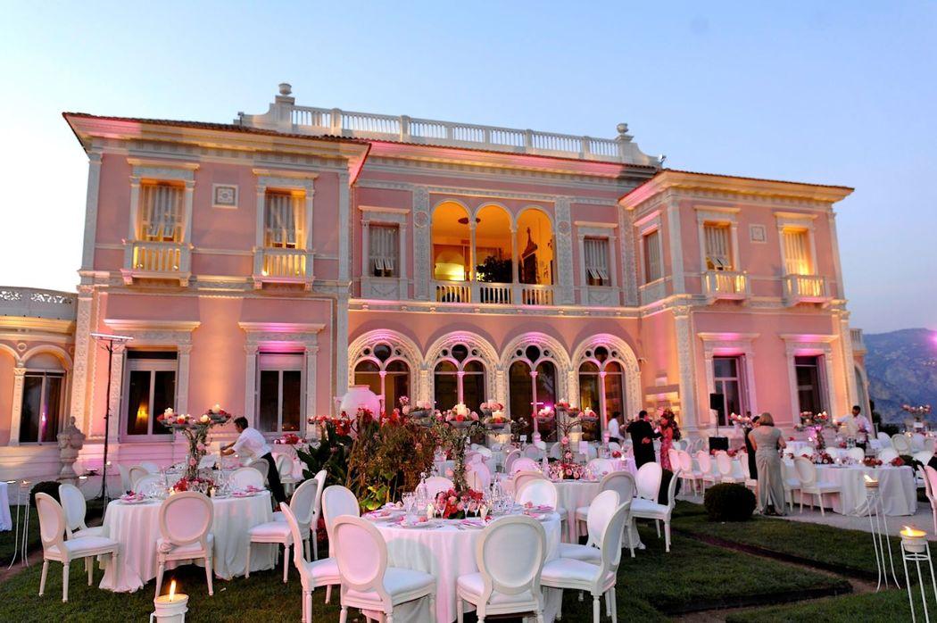 Villa Ephrussi de Rothschild, dîner dans le jardin à la française