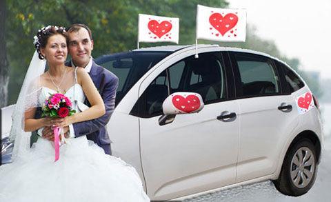 Beispiel: Hochzeitsspiel Autodekoration, Foto: Galleryy.
