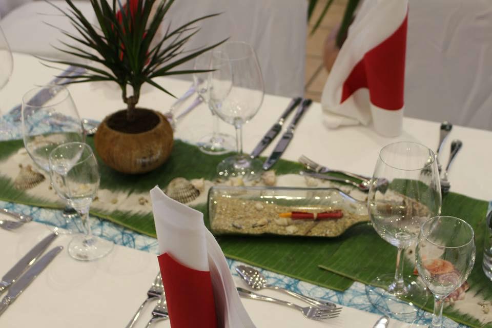 Beispiel: Tischdekoration, Foto: Seehaus Ingolstadt.