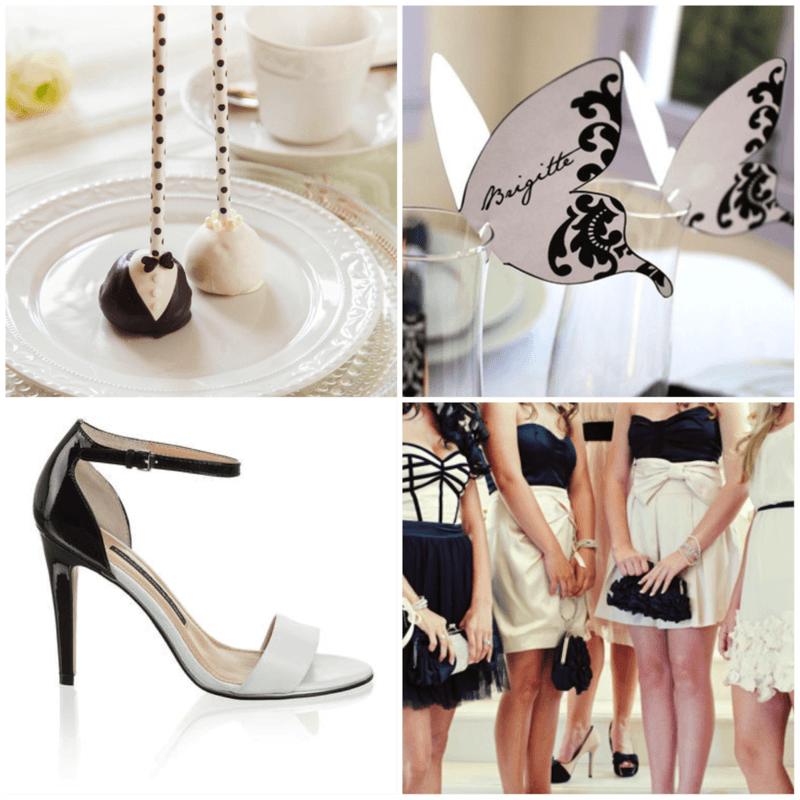 Beispiel: Inspiration Schwarz-Weiß, Foto: Die Hochzeitsfee.
