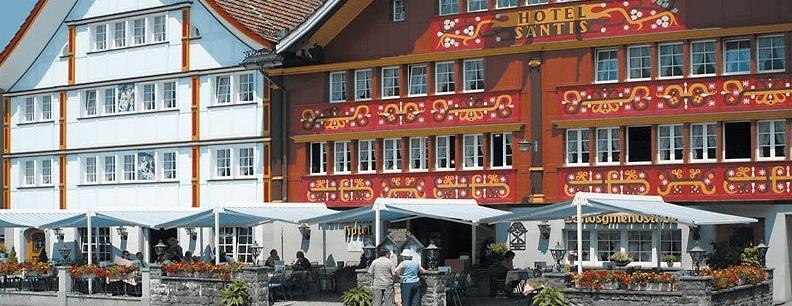 Beispiel: Aussenansicht, Foto: Romantik Hotel Säntis.
