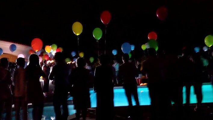 Balões com LED para Largada