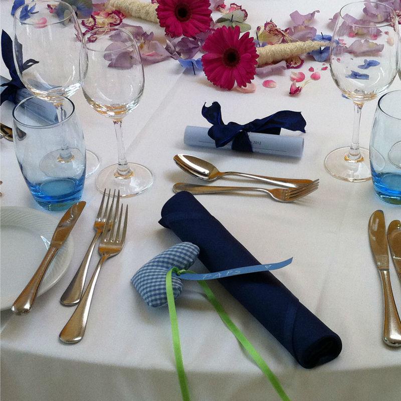 Beispiel: Tischdekoration, Foto: Seehotel Wilerbad.