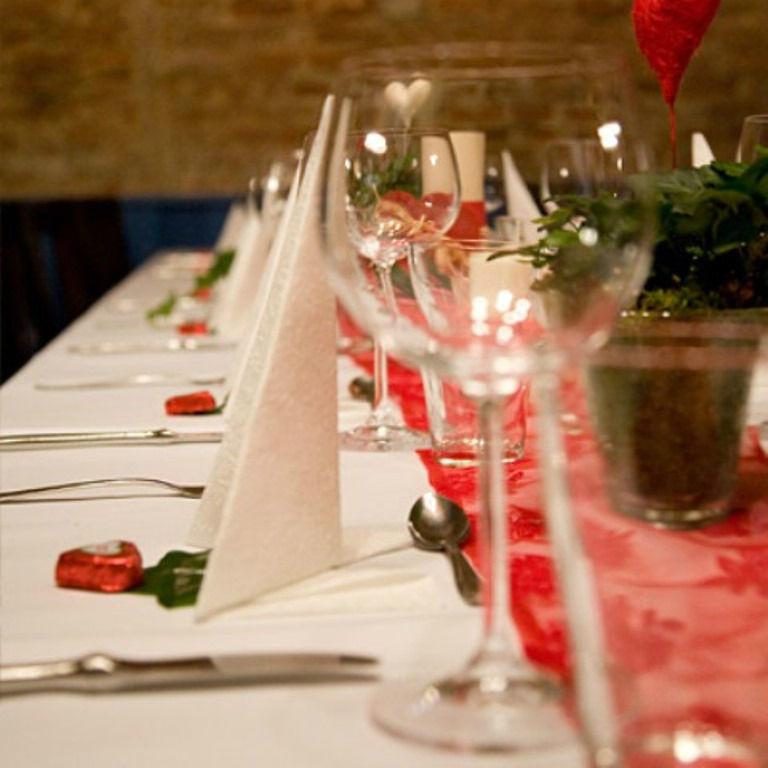 Beispiel: Tischdekoration, Foto: Gut Mergenthau.