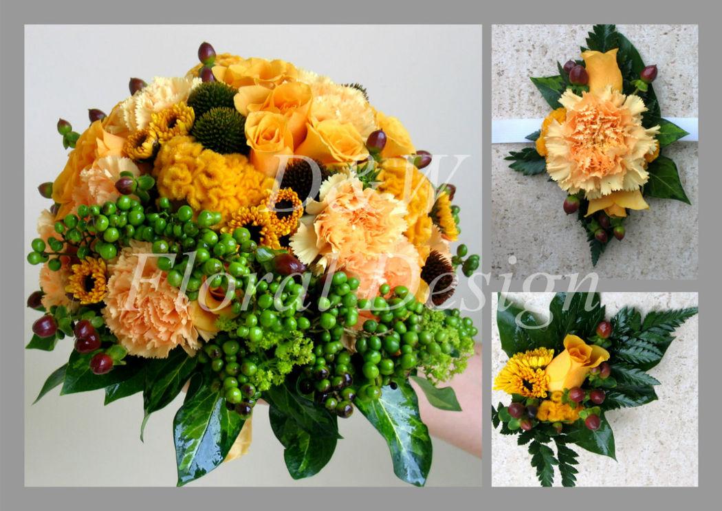 Pomarańczowa kompozycja florystyczna