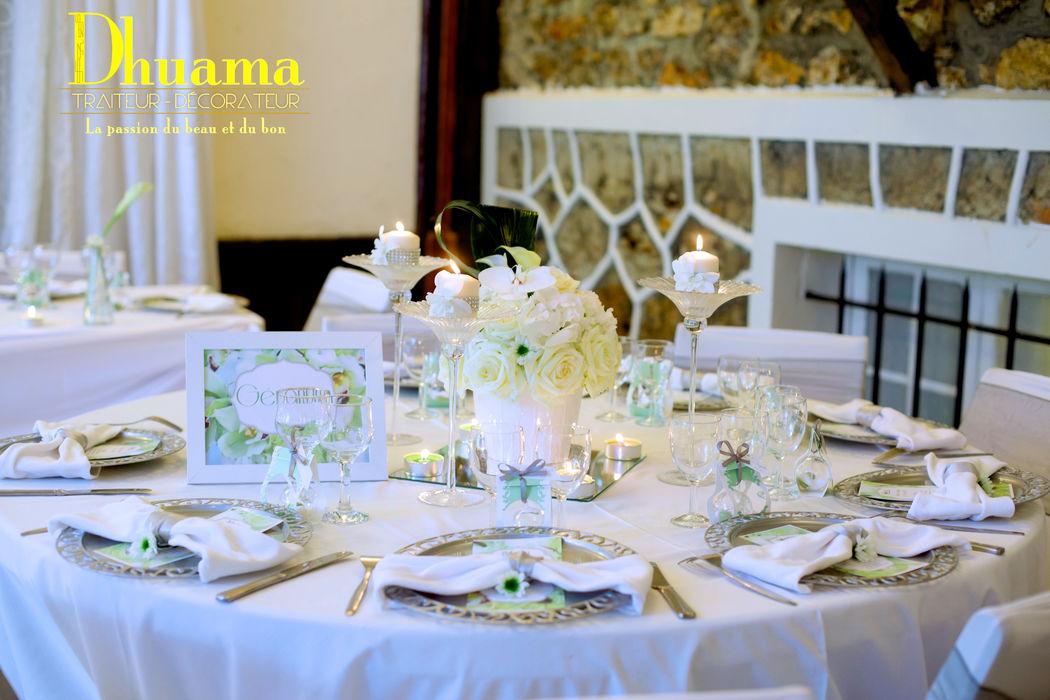 Décoration mariageVert et Blanc: Dhuama traiteur africain